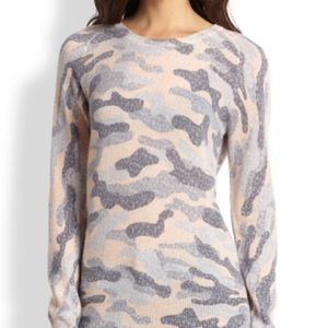 Equipment Sloan Lace Camo Cashmere Blend Sweater